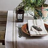 Leinen Tischläufer - Läufer - Tischband - Tischtuch - Farbe Weiß - 50 x 200 cm/ Varvara Home 1577