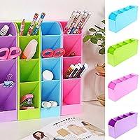 Generic violeta: organizador de 4 compartimentos, caja de almacenamiento para lápices, bolígrafos, maquillaje, ropa interior, color violeta