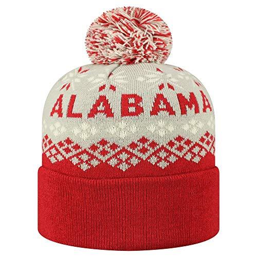 Top of the World Cuffed Knit Advisory Stretch Socke Hat Cap Pom Beanie, Multi, Cuffed Knit - Top Of The World Stretch-cap