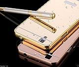 Febelo Branded Luxury Metal Bumper + Acrylic Mirror Back Cover Case For Micromax Yu Yureka / Yu Yureka Plus - Gold Plated