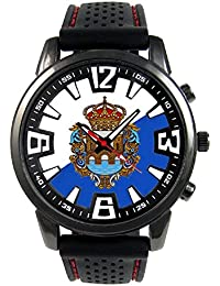 Pontevedra España Reloj para hombre con correa de silicona