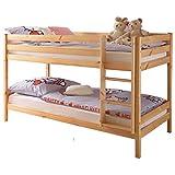 Etagenbett Kiefer massiv natur lackiert EN 747-1 + 747-2 teilbar zu 2 Einzelbetten Stockbett Doppelbett Kinderzimmer Hochbett Kinderbett