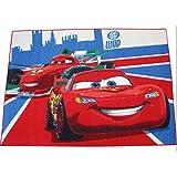 Disney Cars–Alfombra infantil (133x 95cm–Alfombra parte McQueen Car 26