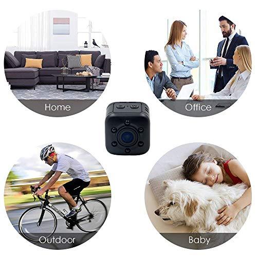 1080P Mini Cam Surveillance Kamera LXMIMI Portable HD Nanny Web Cam mit Nachtsicht und Bewegungserkennung für Home / Office Indoor / Outdoor Security Kamera - 5