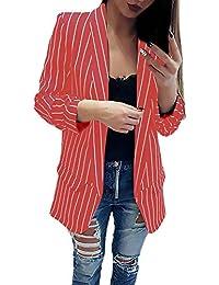 Blazer Mujer Manga Larga De Solapa Slim Fit Flecos Chaqueta De Traje Primavera Otoño Moda Basic
