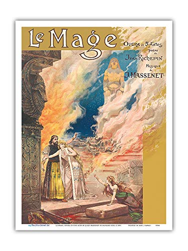 Pacifica Island Art Kunstdruck Le Mage Opera von Jules Massenet Paris France Theater Alfredo Edel 1891 9 x 12 in Mehrfarbig (Farb Themen Kostüm)