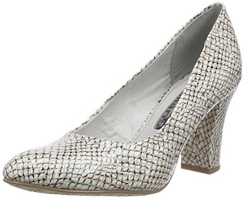 Tamaris 22456, Chaussures à talons - Avant du pieds couvert femme Multicolore - Mehrfarbig (OFFWHT.STR.COM 110)