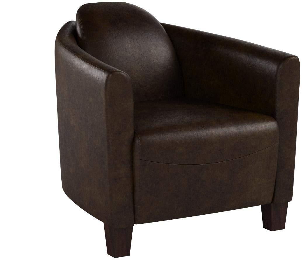 Phoenixarts Echtleder Vintage Sessel Ledersessel Braun Design Lounge Clubsessel Sofa Möbel NEU 443 1