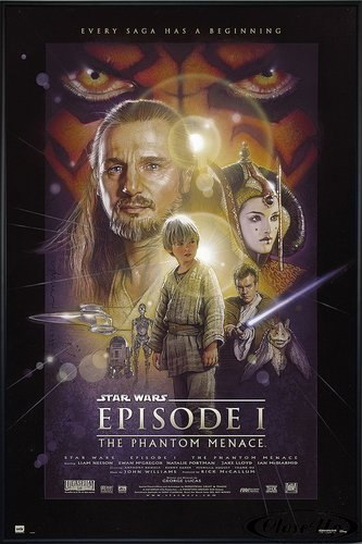 sode 1 The Phantom Menace (93x62 cm) gerahmt in: Rahmen schwarz (Star Wars Anikin)