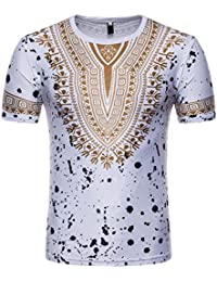 T-Shirt Africain, Malloom Chemise à Manches Courtes à Manches Courtes ... ae100f2f476