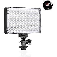 GVM Luz LED de Video con batería, luz de Panel de cámara LED Bicolor 3200K-5600K Regulable CRI95 + 240 para Canon, Nikon, Pentax, Panasonic, Sony, Samsung, Olympus y Otras cámaras videocámaras