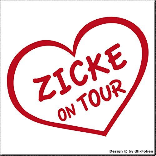 cartattoo4you AK-01010 | ZICKE ON TOUR | K-Serie | Autoaufkleber Aufkleber FARBE rot , in 23 weiteren Farben erhältlich , glänzend 13 x 10 cm Waschstrassenfest Versandkostenfrei - Glänzendes Blond