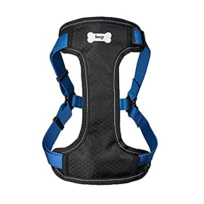 Bunty Soft Comfortable Breathable Fabric Dog Puppy Pet Adjustable Harness Vest - Black - Small 9