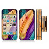 Iphone 4/4S Skin Sticker Decal Full Body Wrap Protection Vinyl Colorful Feather