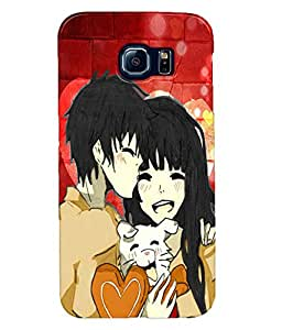 Fuson Love Couples Back Case Cover for SAMSUNG GALAXY S6 - D3873