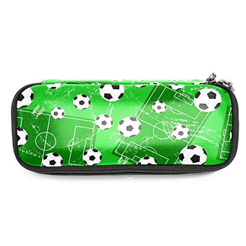 TIZORAX Federmäppchen/Federmäppchen für Fußballtor und Fußballball, für Schule/Büro (Wie Fußballtor Hoch Ist Ein)
