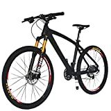 Beiou CB024 Hardtail-Mountainbike, mit Shimano M610 Deore 30-Gang-Kurbelgarnitur, Toray T800-Karbonfaser, ultraleichter Rahmen, 10,65 kg, 26-Zoll-Räder, Damen, matte black, 19-Inch für Beiou CB024 Hardtail-Mountainbike, mit Shimano M610 Deore 30-Gang-Kurbelgarnitur, Toray T800-Karbonfaser, ultraleichter Rahmen, 10,65 kg, 26-Zoll-Räder, Damen, matte black, 19-Inch