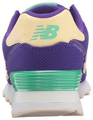 New Balance Wl574, Sneaker Donna Deep Violet/Pollen