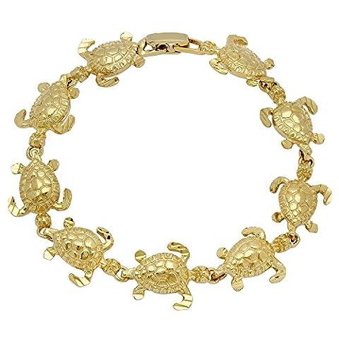 Bracelet en or plaqué or 14mm Turtle Link
