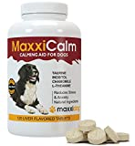 MaxxiCalm Calming Aid for Dogs with Canine Behaviour Training Guide - Stress and Anxiety Relief - Non-Drowsy - 120 Tablets