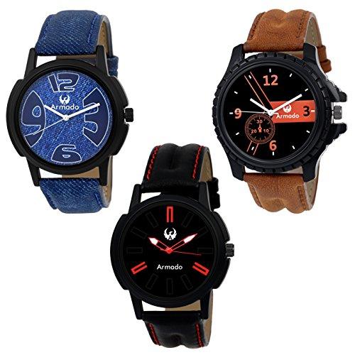 Armado AR-111561 Combo Of 3 Elegant Analog Watches-For Men