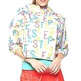 adidas Stellasport All Over Print Trainingsjacke Damen, weiß/gelb / pink, XS-30/32