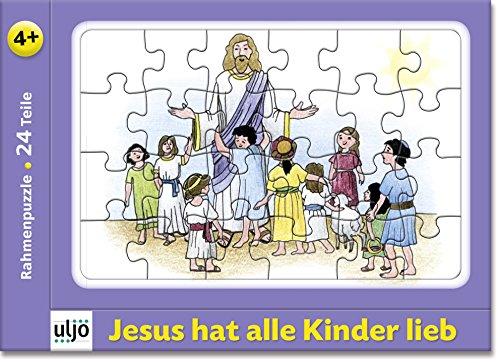 Christliche Geschenkideen °° Rahmenpuzzle mit Bibel-Geschichten, 24-teilig, ab 4 Jahre (Jesus hat alle Kinder lieb)