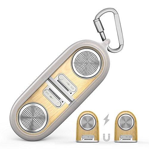 Bluetooth Drahtloser Lautsprecher Magnetlautsprecher 2- in- 1 Portable Stereo Dual Driver Basslautsprecher mit Outdoor Schutzhülle aus Silikonkautschuk, eingebautes Mikrofon für Handy iPhone Samsung
