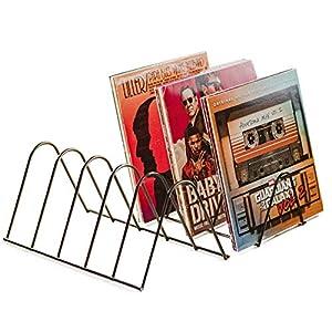 VINYL RECORDS LOVE NEU: Schallplattenständer   Schallplatten Halter Aufbewahrung für 75 LPs   Matt Schwarz Metall   Schallplatten Ständer Zeitschriften Bücher
