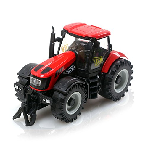 odell Autos LKW Kinder Spielzeug Bau Fahrzeug Set pädagogisches Kinderfahrzeug Gebäude-Spielzeug Baufahrzeug Traktor Geschenkset mit Scheinwerfer und Musik (Gebäude Spielzeug)