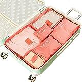 Kleidertaschen-Set 6-teilig IHRKleid® Reisetasche in Koffer Wäschebeutel Schuhbeutel Kosmetik Aufbewahrungstasche Farbwahl (Rot)