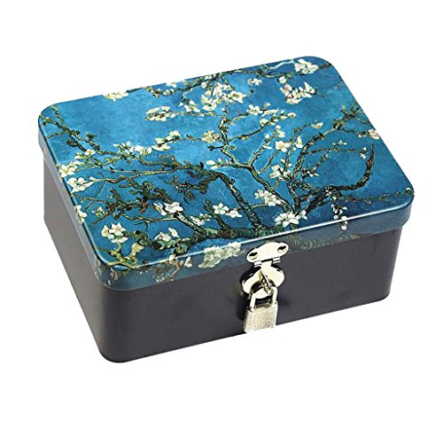 Sharplace Metall Rechteckige Leere Aufbewahrungsbox Container Mini Portable Box - Van...