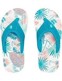 9bda9855fa02 Animal Girls Flip Flops -Swish AOP