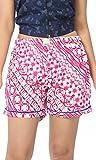 Abony Women's Pink Cotton Short (Size:S)