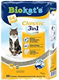 Gimborn Biokat's Classic 3in1 Katzenstreu/Hochwertige Klumpstreu für Katzen mit 3 unterschiedlichen Korngrößen/1 Plastikbeutel (1 x 20 L)