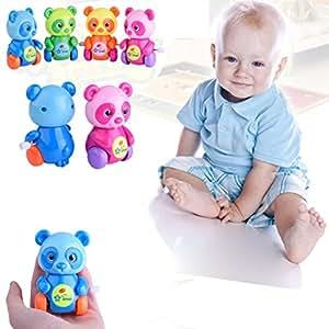 Hot Sale! GreatestPAK 1 X Wind-up Cartoon Froggy Cars, Animal Clockwork Bath Time Kid Baby Shower Play Funny Educational Toy (Bear)