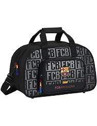 FC Barcelona 711725273 Bolsa, Unisex, Negro, 40 cm