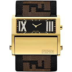 Fendi Women's Quartz Watch Fendi Zip Code F113211D with Textile Strap