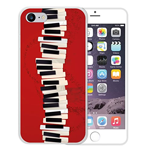 WoowCase Hülle Case für [ iPhone 7 ] Handy Cover Schutzhülle Herzen Housse Gel iPhone 7 Transparent D0212