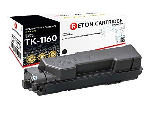 Preisvergleich Produktbild Original Reton kompatibler Toner | 50% mehr Leistung | als Ersatz für TK-1160 für Kyocera ECOSYS P2040dn, Kyocera ECOSYS P2040dw | Geprüft nach ISO-Norm 19752 |