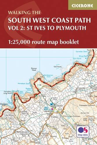 South West Coast Path Map Booklet - St Ives to Plymouth: 1:25,000 OS Route Mapping (British Long Distance) Plymouth Karten