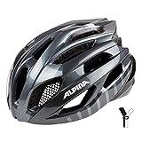 Alpina Erwachsene Fedaia Fahrradhelm, Titanium/Black, 58-63 cm