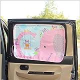 jysport coche ventana Parasol–Universal bebé coche sol pantallas pantallas de Outback de caricatura para proteger su bebé–Fit tamaño completo coches, goodfriends