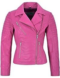 edd50d563d Suchergebnis auf Amazon.de für: Fliegerjacke Leder - Pink / Damen ...