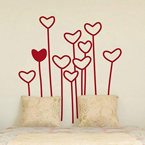 vinilo decorativo de corazones con tallo
