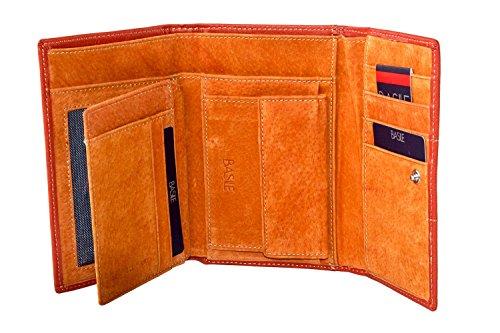 Portafoglio donna BASILE arancio apertura a bottone con portamonete A4181