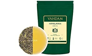 Vahdam - Organic Green Tea Leaves from Himalayas(100+ Cups),100% Natural Organic Green Tea Loose Leaf, Powerful Natural Anti-Oxidants, Harvest, 255gm, Organic Loose Leaf Green Tea