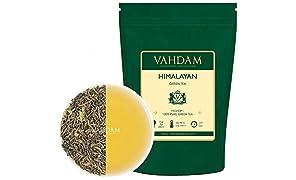 Feuilles de thé vert de l'Himalaya (plus de 100 tasses), 100% thé vert naturel, feuilles mobiles, antioxydants naturels puissants, récolte fraîche - 255g