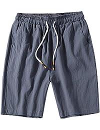 GladiolusA Cargo Bermudas Hombre Pantalones Cortos De Playa Deportivos Chinos Pantalon Lino Cintura Elástica Tamaño Grande ehZU9c3X5S