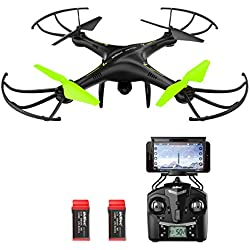 Potensic U42W Drone con Telecamera HD, Actualizado Wifi FPV 2.4GHz 4CH